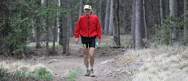 Larry Crevelng at Jemez Mountain Trail 50 Mile - Jedirunner